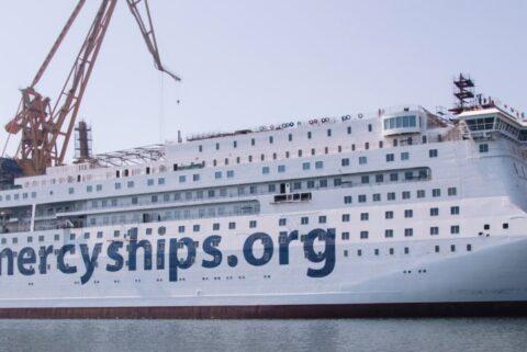 Biggest civilian hospital ship newbuilding moves closer to delivery