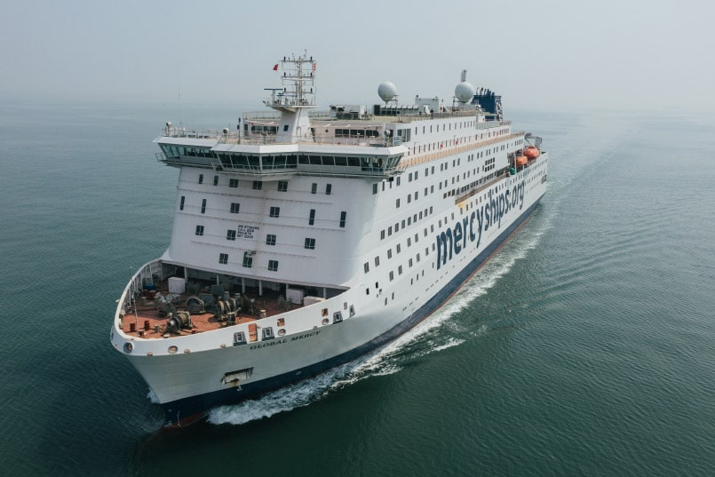 Global Mercy sea trials